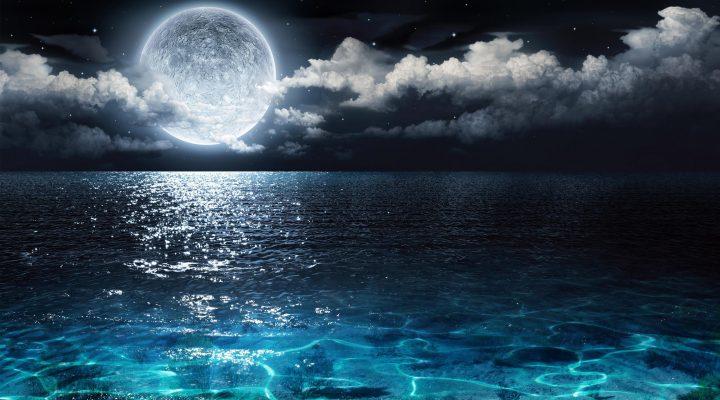 گالری عکس دریا در شب