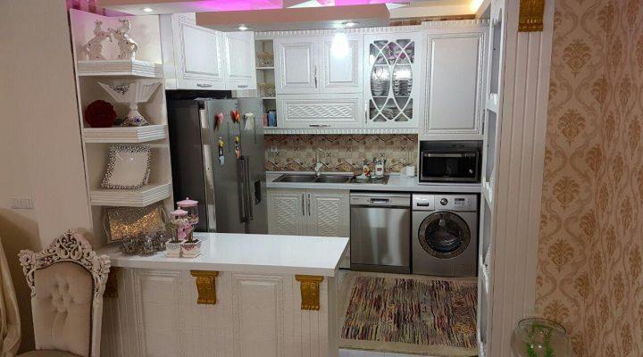 گالری عکس دکوراسیون آشپزخانه با کابینت PVC