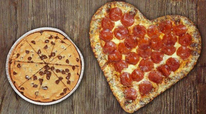 گالری عکس پیتزا قلبی
