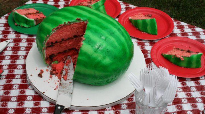 گالری عکس کیک هندوانه ای